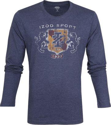 IZOD T-shirt LS Logo Blau