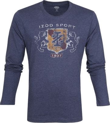 IZOD T-shirt LS Logo Blauw