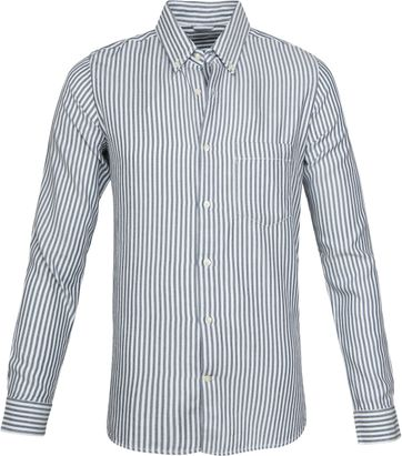 Knowledge Cotton Apparel Hemd Denim Striped