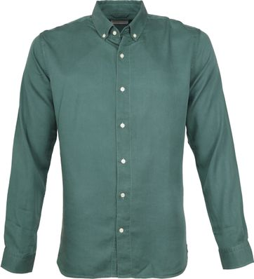 Knowledge Cotton Apparel Hemd Groen