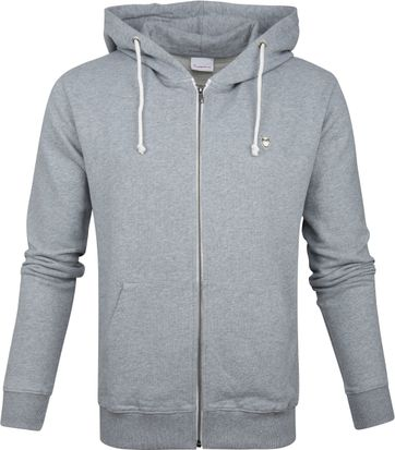 Knowledge Cotton Apparel Hoodie Grey