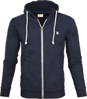 Knowledge Cotton Apparel Hoodie Navy