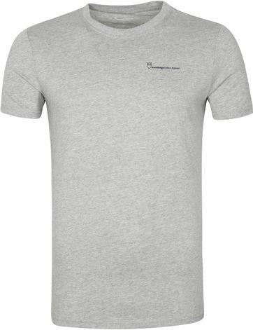 Knowledge Cotton Apparel Logo T Shirt Alder Grau