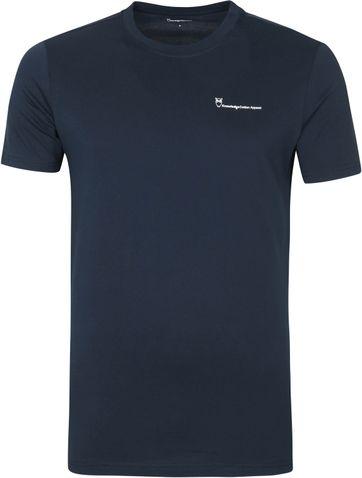 Knowledge Cotton Apparel Logo T Shirt Alder Navy