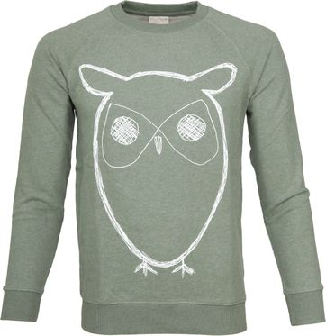 Knowledge Cotton Apparel Owl Green