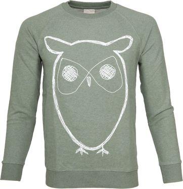 Knowledge Cotton Apparel Owl Grün
