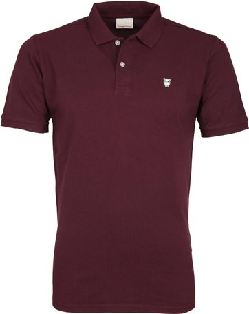 Knowledge Cotton Apparel Poloshirt Bordeaux