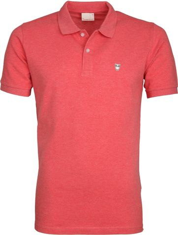 Knowledge Cotton Apparel Poloshirt Coral