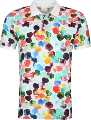 Knowledge Cotton Apparel Poloshirt Dot Print