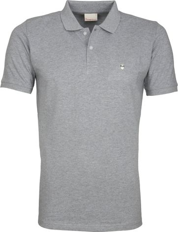 Knowledge Cotton Apparel Poloshirt Grey