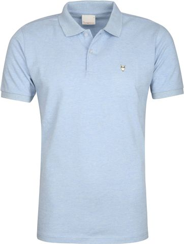 Knowledge Cotton Apparel Poloshirt Light Blue