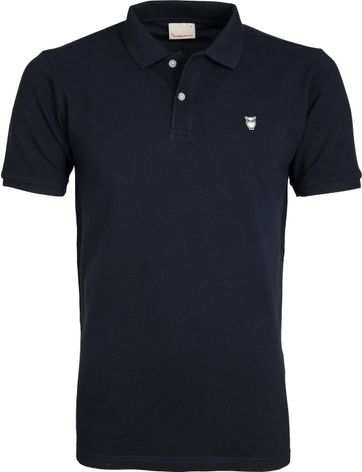 Knowledge Cotton Apparel Poloshirt Navy
