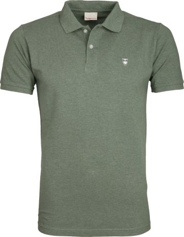 Knowledge Cotton Apparel Poloshirt Olive