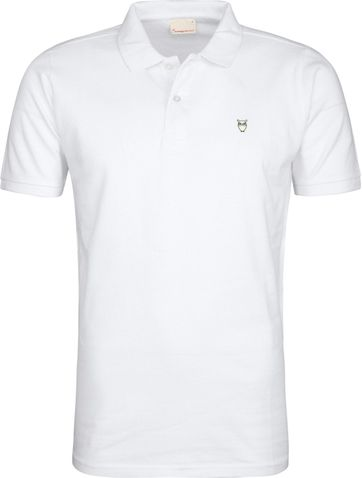 Knowledge Cotton Apparel Poloshirt Weiß