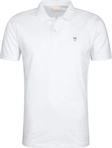 Knowledge Cotton Apparel Poloshirt White