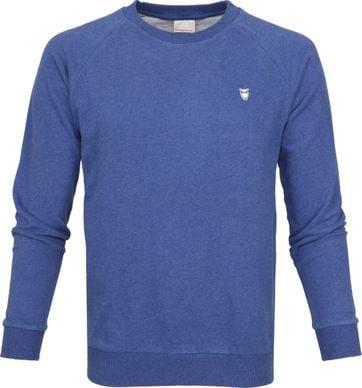 Knowledge Cotton Apparel Pullover Blue