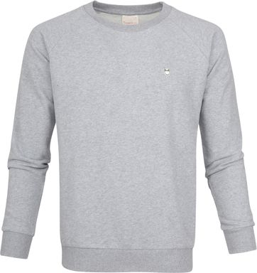 Knowledge Cotton Apparel Pullover Grey