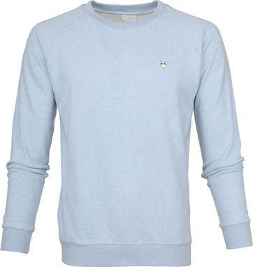 Knowledge Cotton Apparel Pullover Hellblau