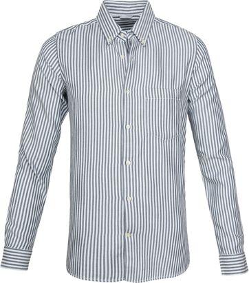 Knowledge Cotton Apparel Shirt Denim Striped