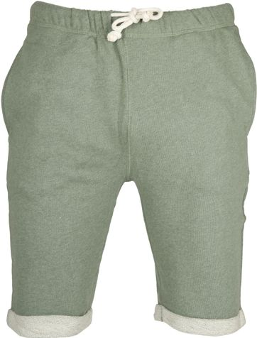 Knowledge Cotton Apparel Short Melange Groen