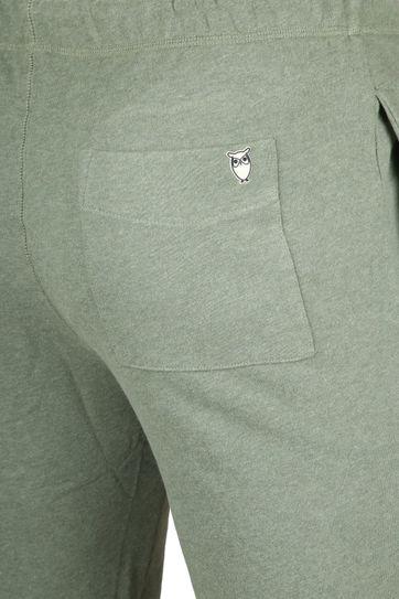 Knowledge Cotton Apparel Short Melange Groen