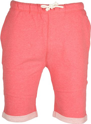 Knowledge Cotton Apparel Short Melange Rood