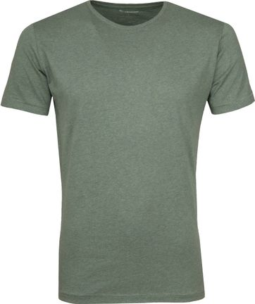 Knowledge Cotton Apparel T-Shirt Green