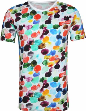Knowledge Cotton Apparel T-shirt Multi Dot