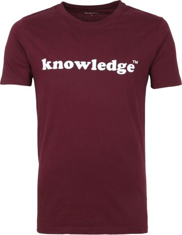 Knowledge Cotton Apparel T-shirt Violett
