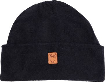 KnowledgeCotton Apparel Beanie Dark Blue
