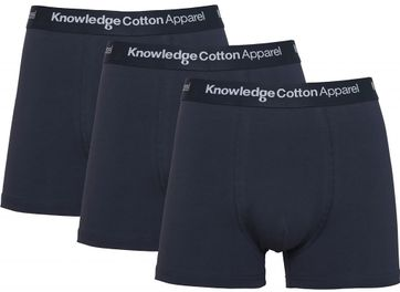 KnowledgeCotton Apparel Boxer Shorts Maple 3-Pack Navy