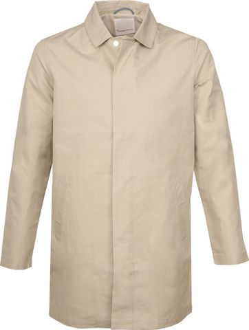 KnowledgeCotton Apparel Carcoat Beige