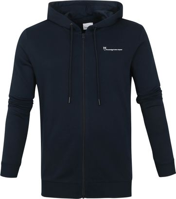 KnowledgeCotton Apparel Cedar Strickjacke Navy