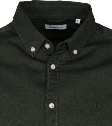 KnowledgeCotton Apparel Donkergroen Overhemd