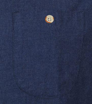 KnowledgeCotton Apparel Elder Hemd Donkerblauw