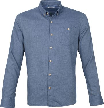 KnowledgeCotton Apparel Elder Shirt Light Blue