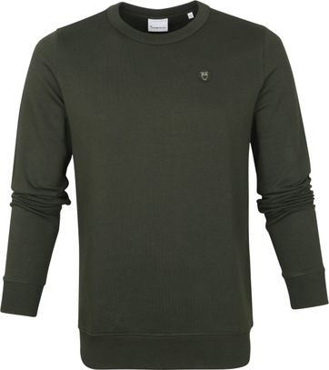 KnowledgeCotton Apparel Elm Sweater Dark Green