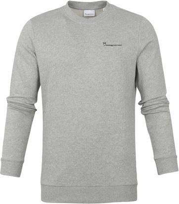 KnowledgeCotton Apparel Elm Sweater Grey