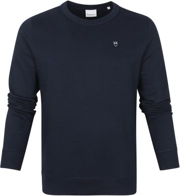 KnowledgeCotton Apparel Elm Sweater Navy