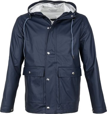 KnowledgeCotton Apparel Lake Rain Jacket Navy