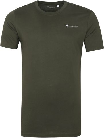 KnowledgeCotton Apparel Logo T Shirt Alder Forrest Green