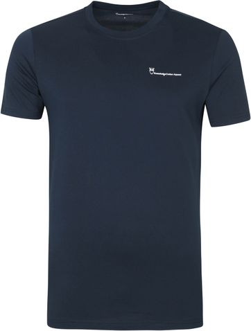 KnowledgeCotton Apparel Logo T Shirt Alder Navy