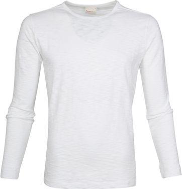KnowledgeCotton Apparel LS T-shirt Wit