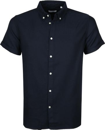 KnowledgeCotton Apparel Overhemd Navy