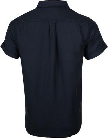 KnowledgeCotton Apparel Overhemd Navy