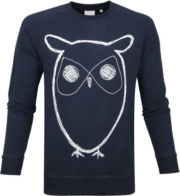 KnowledgeCotton Apparel Owl Navy