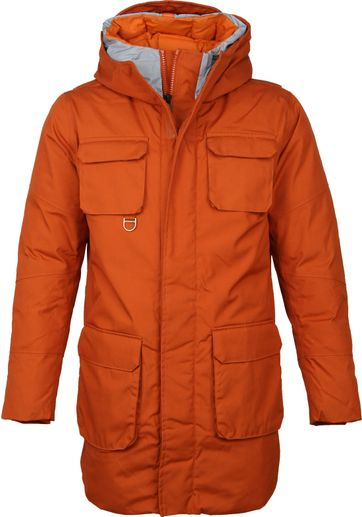 KnowledgeCotton Apparel Parka Coat Orange