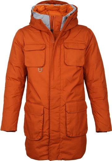 KnowledgeCotton Apparel Parka Jas Oranje