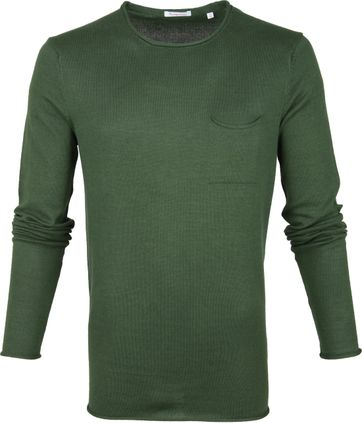 KnowledgeCotton Apparel Pullover Dark Green
