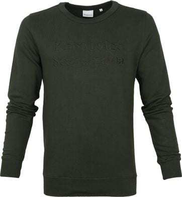 KnowledgeCotton Apparel Pullover Elm Dark Green